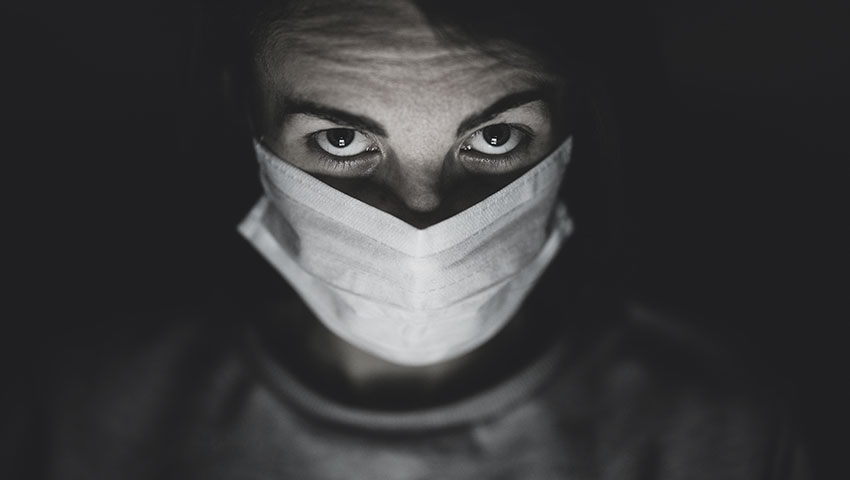 man wearing a mask during coronavirus pandemic